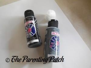 Black and Gray Acrylic Paint