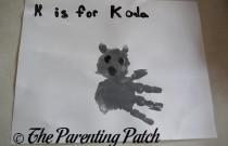 K Is for Koala Handprint Craft