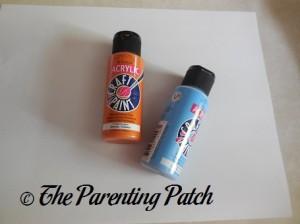 Orange and Blue Acrylic Paint