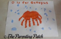 O Is for Octopus Handprint Craft