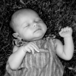 Premature Baby in the Grass