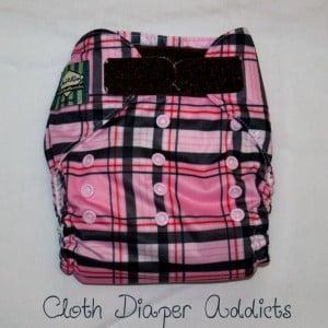 Pink Plaid Mini Kiwi Pocket Diaper 1