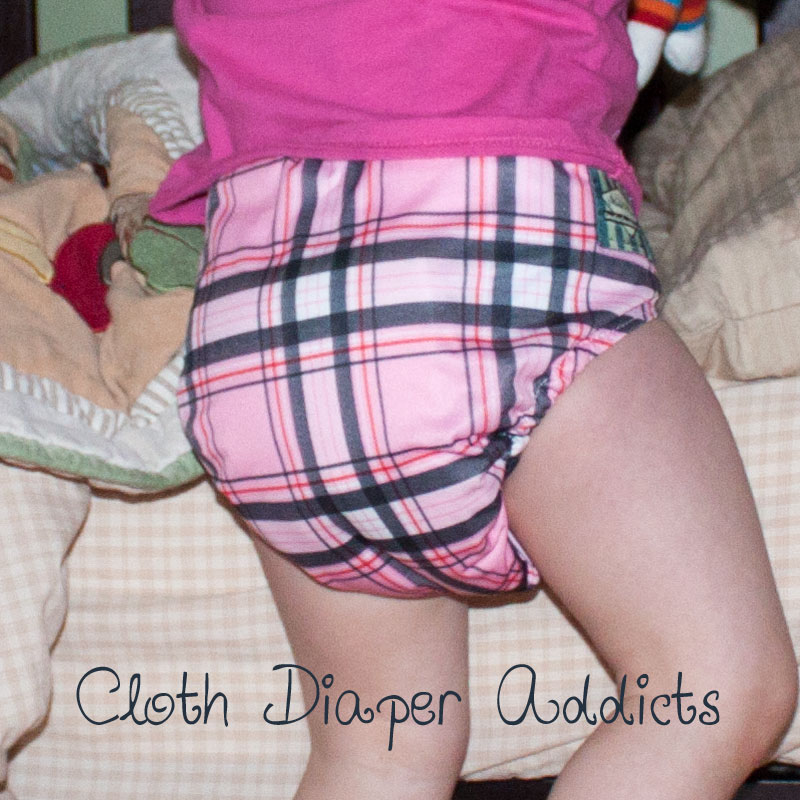 Pink Plaid Mini Kiwi Pocket Diaper 5