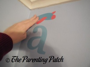 Applying the Sunny Decals to the Wall