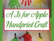 A Is for Apple Handprint Craft