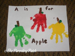 A Is for Apple Handprint Craft 2