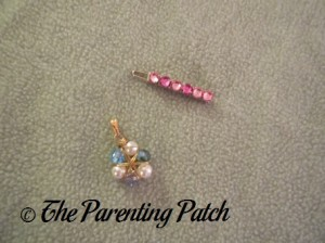Menucha Jewelry Pink Crystal Hair Clip and Pendant