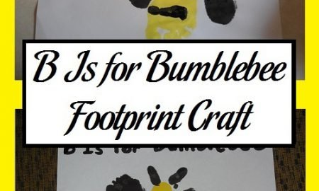 B Is for Bumblebee Footprint Craft
