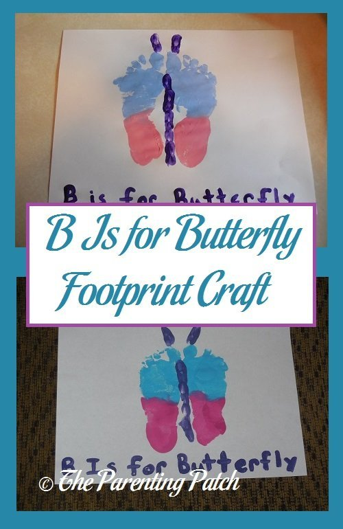 B Is for Butterfly Footprint Craft