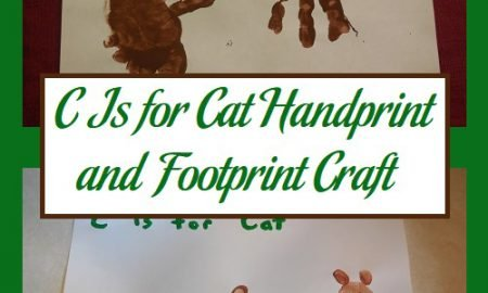 C Is for Cat Handprint and Footprint Craft