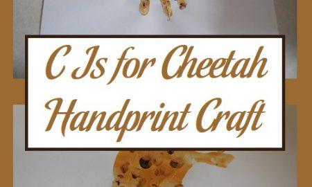 C Is for Cheetah Handprint Craft