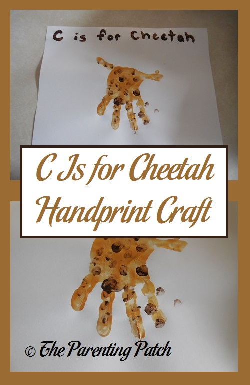 C Is for Cheetah Handprint Craft