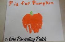 P Is for Pumpkin Handprint Craft