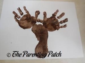 Adding a Second Brown Handprint