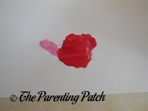 Red Palm Print with Pink Thumbprint