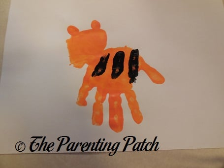 t is for tiger handprint craft parenting patch
