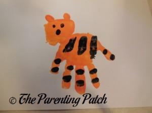Adding More Black Fingerprint Stripes and the Tiger Face