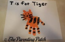 T Is for Tiger Handprint Craft
