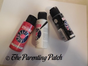 Red, White, and Black Acrylic Paint