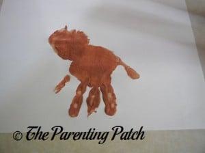 Adding a Brown Handprint