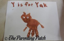 Y Is for Yak Handprint Craft