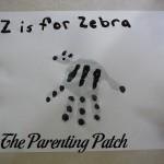 Z Is for Zebra Handprint Craft