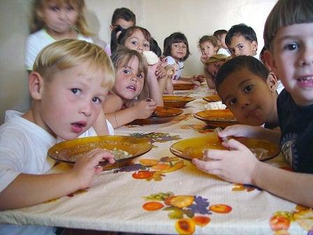Children Eating at School
