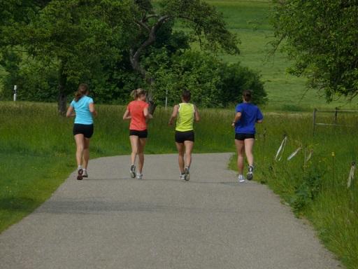 Four Women Jogging