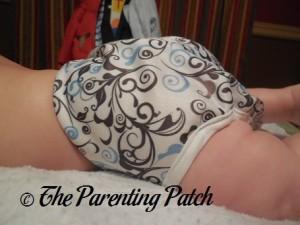 Side of Swirls Capri on 17 Pound Infant 2