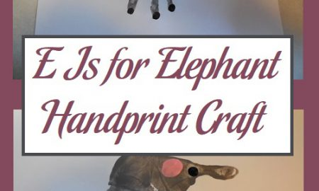 E Is for Elephant Handprint Craft