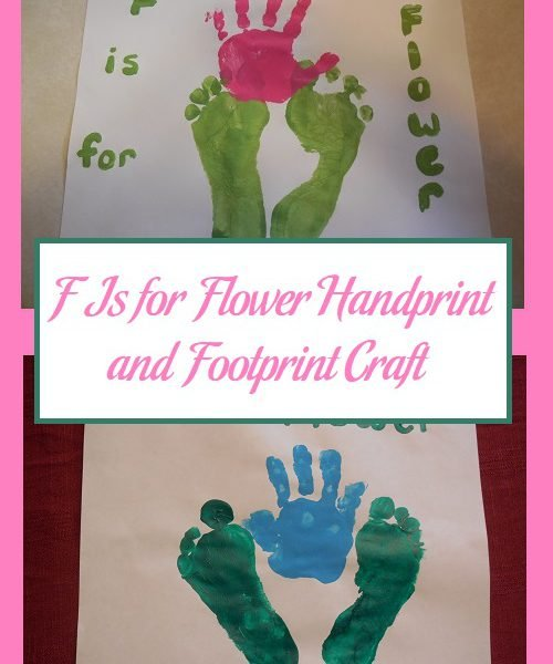 handprint flower craft f is for flower handprint and footprint craft parenting 2150