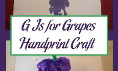 G Is for Grapes Handprint Craft