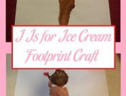 Completed I Is for Ice Cream Footprint Craft