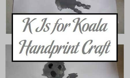 K Is for Koala Handprint Craft