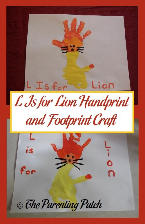 L Is for Lion Handprint and Footprint Craft