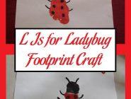 L Is for Ladybug Footprint Craft