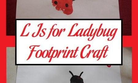 L Is for Ladybug Footprint Craft
