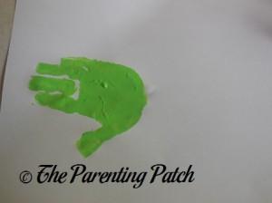 One Light Green Handprint