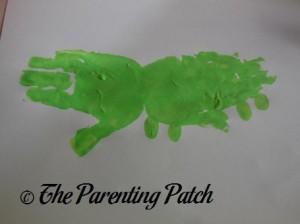 Adding Four Light Green Fingerprints