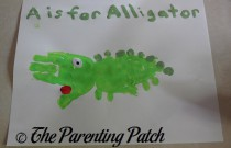 A Is for Alligator Handprint Craft