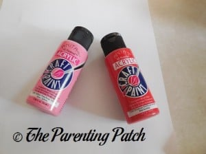 Pink and Red Acrylic Paint