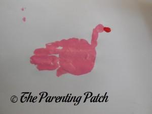 Adding a Red Fingertip Print Beak