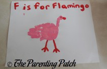 F Is for Flamingo Handprint Craft