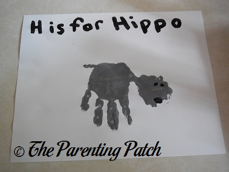 H Is for Hippo Handprint Craft