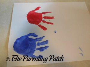 Red and Blue Handprints