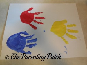 Red, Blue, and Yellow Handprints