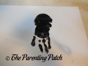 Adding a Black Handprint Under the Palm Print