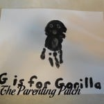 G Is for Gorilla Handprint Craft