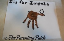 I Is for Impala Handprint Craft