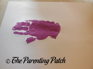 Adding a Purple Handprint to the Palm Print
